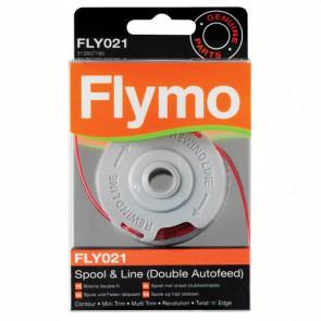Flymo dubbele auto draadspoel. FLY021