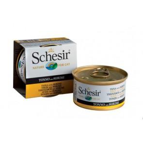Schesir cat can jelly tuna&surimi