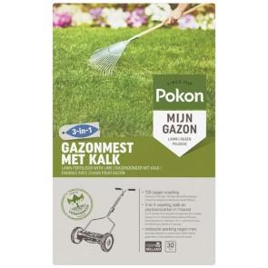 Pokon Gazonmest met Kalk 3-in-2 30m2