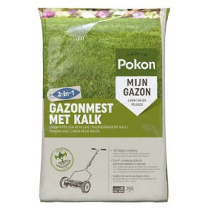 Pokon Gazonmest met Kalk 3-in-5 250m2