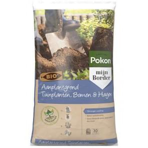 Pokon Bio Aanplantgrond Tuinplanten, Bomen & Hagen 30L