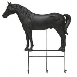 Kapstok Paard 3 haaks Zwart